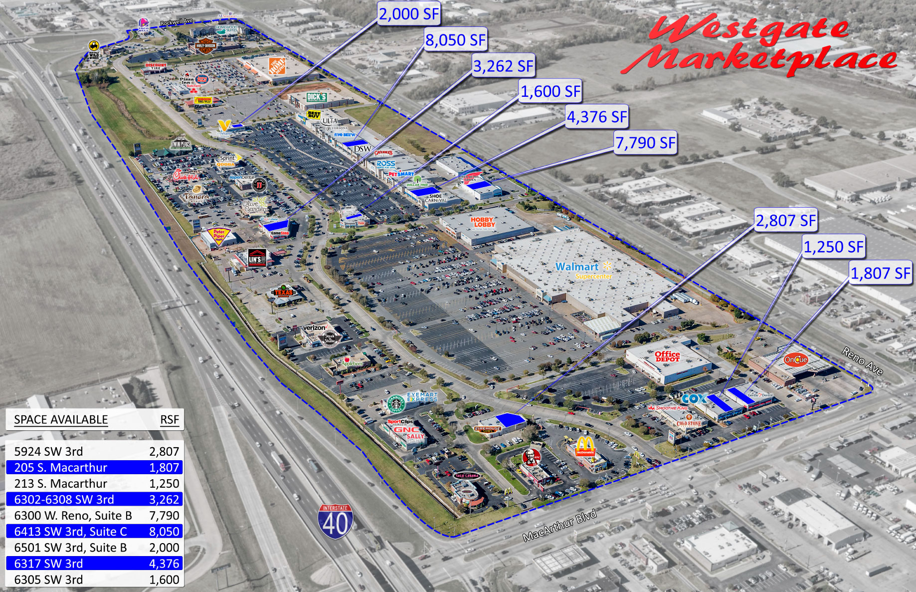 Westgate Marketplace Shopping District In Oklahoma City Availability